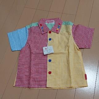 ミキハウス(mikihouse)のミキハウス チェック 半袖 シャツ サイズ80(シャツ/カットソー)
