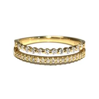18金 K18 ゴールド ダイヤ ダイヤモンド リング 指輪 レディース(リング(指輪))