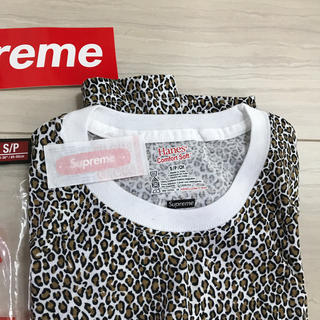 Supreme -  シュプリーム  レオパード ヘインズtシャツ  ステッカー バンドエイド