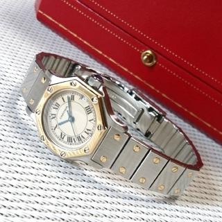 カルティエ(Cartier)の【美品☆】カルティエ サントス オクタゴン レディース SM クオーツ /腕時計(腕時計)