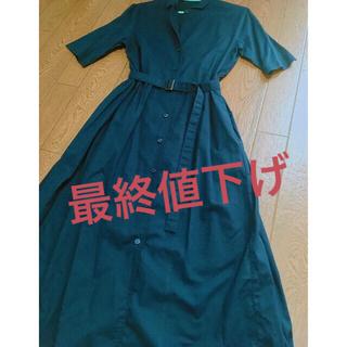 UNIQLO - ロングワンピース 襟シャツ ines de la fressange PARIS