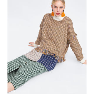 ZARA - 可愛い!可愛い!かわいーい💗 ZARA 新品 ツイードスカート
