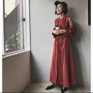 Ameri VINTAGE - Ameri vintage♡フロントプリーツロングドレス