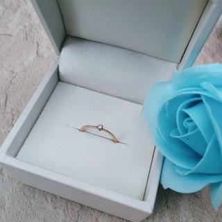 アガット(agete)のagete 一粒ダイヤリング K10 ピンクゴールド アガット ダイヤモンド(リング(指輪))