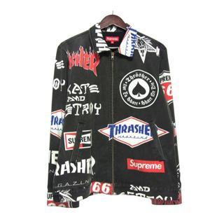 Supreme - シュプリームSUPREME■15SS ユーズド加工ジップアップワークジャケット