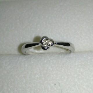 K18 WG ダイヤ 花モチーフ リング(リング(指輪))