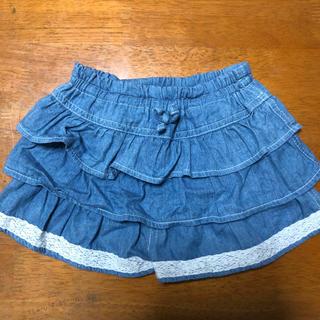 ニシマツヤ(西松屋)の格安で美品 西松屋 フリルキュロットスカート 80cm(スカート)