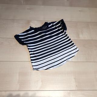 ビンス(Vince)のvince ヴィンス★後ろボタン 可愛いボーダーTシャツ カットソー 12M(シャツ/カットソー)