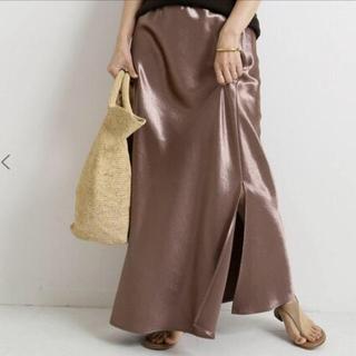 ドゥーズィエムクラス(DEUXIEME CLASSE)のdeuxiemeclasse メタルskirt サイズF(ロングスカート)