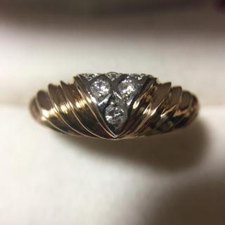 K18 Pt  ダイヤモンド 指輪  総重量4.4g (リング(指輪))