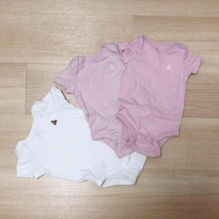 ベビーギャップ(babyGAP)のbaby GAP cotton100% 新生児 ロンパース 50 セット(ロンパース)