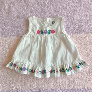 babyGAP - babyGAPベビー花柄刺繍ノースリーブ