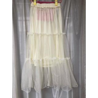 メルロー(merlot)のメルローティアード チュール ロングスカート(ロングスカート)