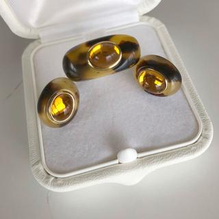 デザインリング&ピアス セットBK(リング(指輪))