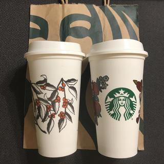 Starbucks Coffee - 【未使用・新品・限定デザイン】スタバアメリカ版 リターナブルカップ 2個セット