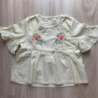 しまむら - 未使用/フリル バタフライ袖 刺繍入りブラウス