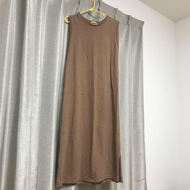 GU(ジーユー)の今期完売 GU Iラインワンピース✱ M レディースのワンピース(ロングワンピース/マキシワンピース)の商品写真