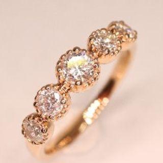 トクトク 豪華すぎる!!ピンクゴールド ダイヤモンド 18金 リング 新品!!(リング(指輪))