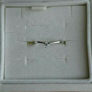 プラチナ900 一粒ダイヤ リング(リング(指輪))