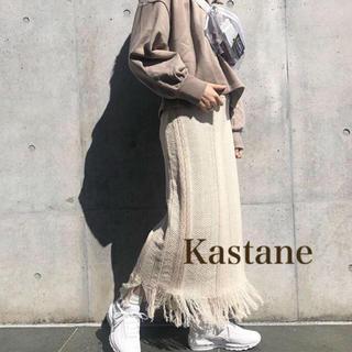 Kastane - 特価♡ ジャガード柄フリンジスカート ジーナシス kbf アーバンリサーチ