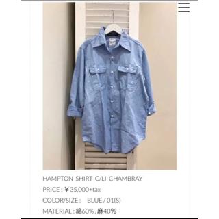 マディソンブルー(MADISONBLUE)のマディソンブルー  シャンブレーシャツ 01 美品(シャツ/ブラウス(長袖/七分))