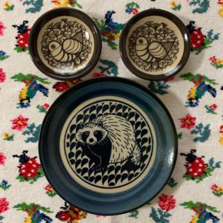リサラーソン(Lisa Larson)のリサラーソン 益子焼き 皿 3枚セット(食器)