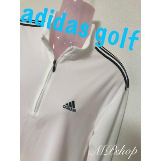 adidas - 美品!アディダスゴルフ ハーフジップ カットソー 長袖シャツ ゴルフウェア