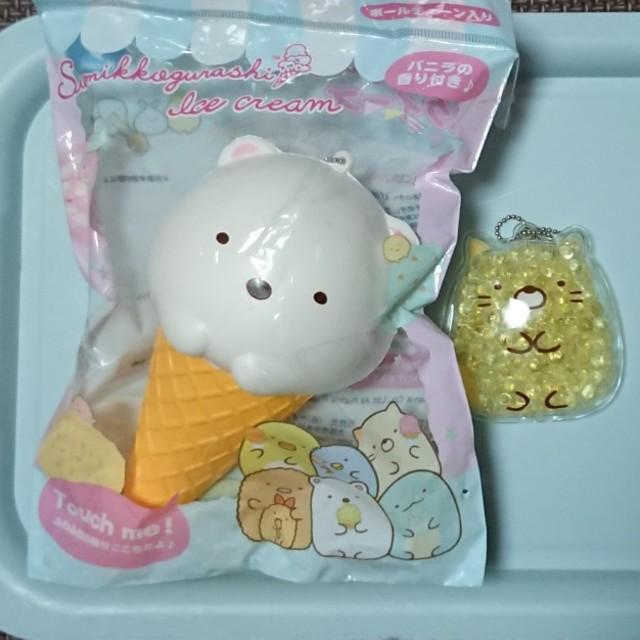 サンエックス(サンエックス)のすみっコぐらしスクイーズ しろくま、ねこ エンタメ/ホビーのおもちゃ/ぬいぐるみ(キャラクターグッズ)の商品写真