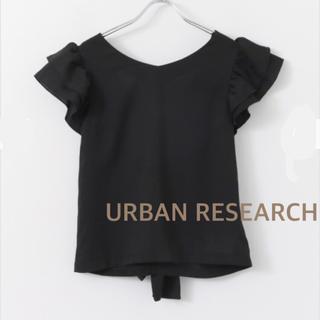 アーバンリサーチ(URBAN RESEARCH)の新品 アーバンリサーチ バックシャン フリル ブラウス(シャツ/ブラウス(半袖/袖なし))