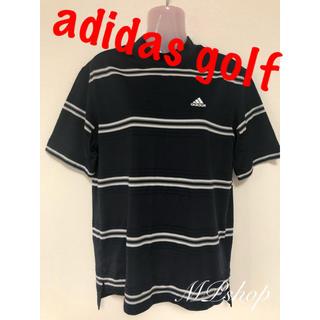 adidas - 【メンズ】アディダスゴルフ ボーダー ハイネックシャツ ゴルフウェア