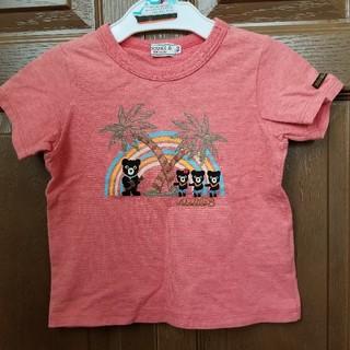 DOUBLE.B - ダブルB  南国 Tシャツ 100  赤 朱色 ヤシの木 虹 ウクレレ フラ