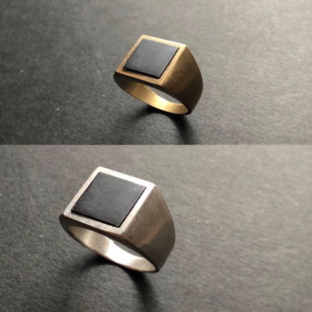 Maison Martin Margiela(マルタンマルジェラ)の▪︎Uimp▪︎ silver signetring スクエアリング  メンズのアクセサリー(リング(指輪))の商品写真