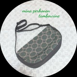 ミナペルホネン(mina perhonen)のミナペルホネン❦フラップクレッセントショルダーS❦タンバリンブルーグレー(バッグ)