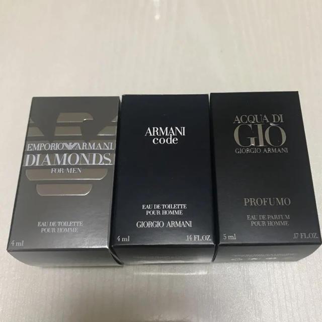 Armani(アルマーニ)のmaco様専用 新品未使用 アルマーニメンズ香水3個セット コスメ/美容の香水(香水(男性用))の商品写真