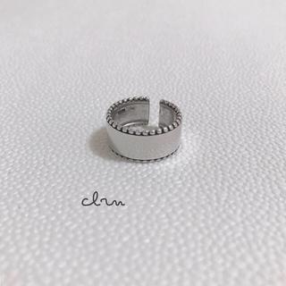 BEAMS - 再販 silver925 ライン プレート シルバーリング