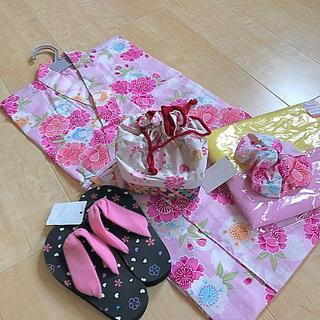 しまむら - 新品・未使用 子ども用浴衣4点セット110☆おまけつき☆