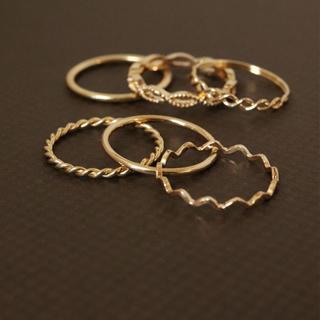 ゴールドリング 6本セット(リング(指輪))
