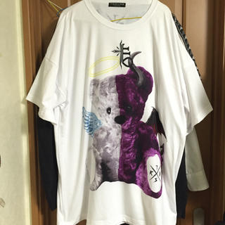 MILKBOY - TRAVASTOKY tシャツ 天使とあクマ  白