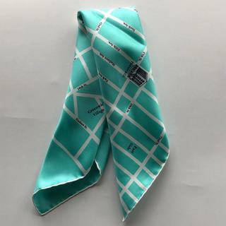 ティファニー(Tiffany & Co.)の新作・日本未入荷・ティファニーNY本店限定新品マンハッタンマップスカーフスモール(バンダナ/スカーフ)