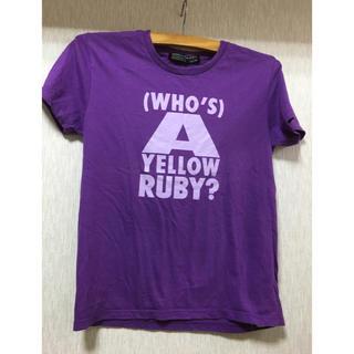 イエロールビー(YELLOW RUBY)の美品イエロールビーのTシャツ  XSサイズ  パープル(Tシャツ/カットソー(半袖/袖なし))