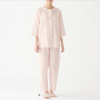 MUJI (無印良品) - 脇に縫い目のない 細番手二重ガーゼ 七分袖パジャマ・婦人L