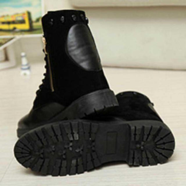 メンズ サイドジッパーブーツ ライダーブーツ ブラック 新品 メンズの靴/シューズ(ブーツ)の商品写真
