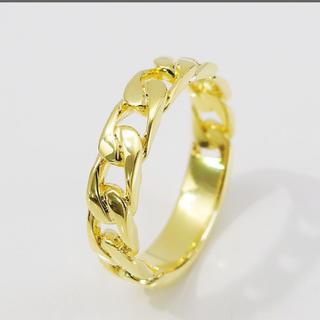 18KGコーティングブラス製チェーンリング(リング(指輪))