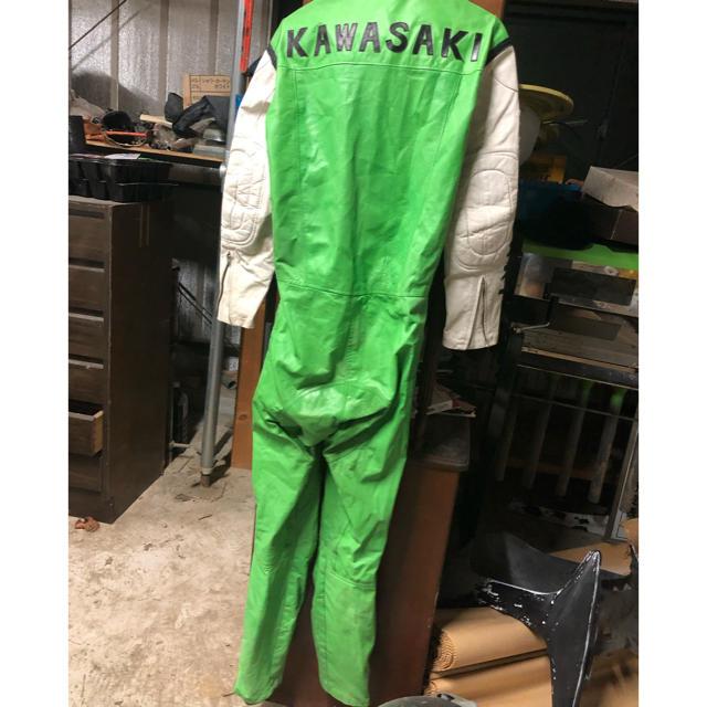 カワサキ(カワサキ)のカワサキ kushitani つなぎ 最終値下げ! 自動車/バイクのバイク(装備/装具)の商品写真