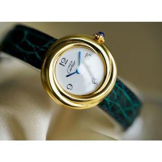 カルティエ(Cartier)の美品 カルティエ マスト トリニティ ホワイト アラビア SM Cartier(腕時計)