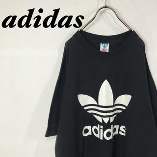 adidas - 古着 adidas トレフォイル デカロゴ Tシャツ バックロゴ USA製
