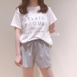 gelato pique - 新品未使用 上下セット◆ジェラートピケ アイスロゴTシャツ ショートパンツ