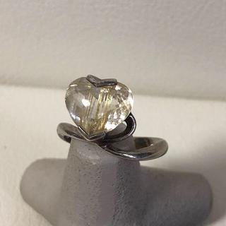 1041 シルバーリング ハート 石付き 925(リング(指輪))