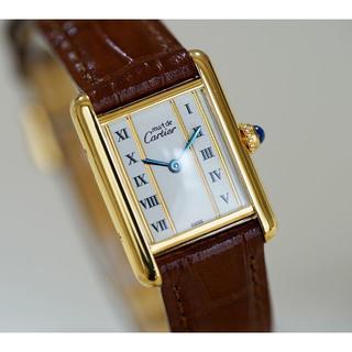 カルティエ(Cartier)の美品 カルティエ マスト タンク ゴールドライン SM Cartier(腕時計)