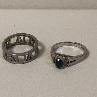 1070 シルバーリングセット 2個(リング(指輪))